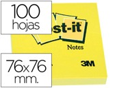 BLOCO DE NOTAS ADESIVAS POST-IT POST-IT AMARELO 76 X 76 MM
