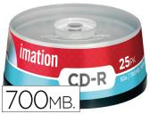 CAIXA DE 25 CD-R - 700MB 80 MIN 52X IMATION