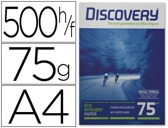 PAPEL FOTOCOPIA DISCOVERY, A4, EMB. 500 FLS, 75 GRS