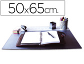 BASE DE SECRETARIA Q-CONNECT, PVC, PRETA, 500X650 MM.