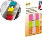 BANDAS POST-IT INDEX , 3 CORES ROSA, VERDE E LARANJA