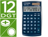 CALCULADORA CITIZEN DE BOLSO CPC-112 12 DIGITOS MET BLUE 105X64X9 MM