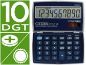 CALCULADORA CITIZEN DE BOLSO CTC-110 10 DIGITOS COR AZUL METALIZADA