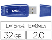 Pen drive usb emtec flash usb 32gb c410 azul