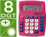 CALCULADORA CITIZEN DE SECRETARIA SDC-450 ROSA 8 DIGITOS