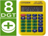 CALCULADORA CITIZEN DE BOLSO LC-110 AMARELA DE 8 DIGITOS