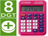 CALCULADORA CITIZEN DE BOLSO LC-110 ROSA DE 8 DIGITOS