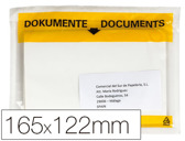 ENVELOPE PACKIN LIST AUTOADESIVO Q-CONNECT PORTA DOCUMENTOS MULTILINGUE 165X122 MM