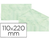 ENVELOPES FANTASIA MARMOREADOS VERDE 110X220 MM 90 GR EMBALAGEM DE 25