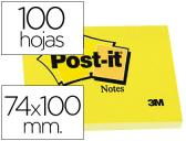 BLOCO DE NOTAS ADESIVAS POST-IT AMARELO 74 X 100 MM