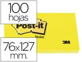 BLOCO DE NOTAS ADESIVAS POST-IT POST-IT AMARELO 76 X 127 MM