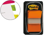 BANDAS POST-IT INDEX 3M, 25,4X43,1 MM, LARANJA -DISPENSADOR DE 50