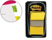 BANDAS POST-IT INDEX 3M, 25,4X43,1 MM, AMARELO -DISPENSADOR DE 50