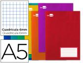 CADERNO ESCOLAR LIDERPAPEL 16F A5 QUAD 6 MM
