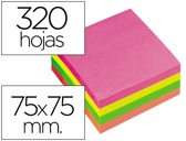 BLOCO DE NOTAS ADESIVAS Q-CONNECT FLUORESC. 75 X 75 MM