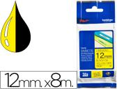 FITA BROTHER TZ-631 LAMINADA AMARELO-PRETO 12MM X 8M