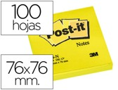 BLOCO DE NOTAS ADESIVAS POST-IT AMARELO 76 X 76 MM