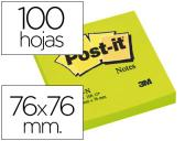 BLOCO DE NOTAS ADESIVAS POST-IT VERDE 76 X 76 MM
