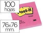 BLOCO DE NOTAS ADESIVAS POST-IT FUCSIA 76 X 76 MM