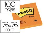 BLOCO DE NOTAS ADESIVAS POST-IT LARANJA 76 X 76 MM