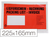 ENVELOPE PACKING LIST  PORTA DOCUMENTOS MULTILINGUE 225x165mm