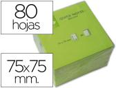 BLOCO DE NOTAS ADESIVAS Q-CONNECT VERDE FLUO. 75 X 75 MM