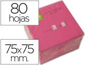 BLOCO DE NOTAS ADESIVAS Q-CONNECT ROSA FLUO. 75 X 75 MM
