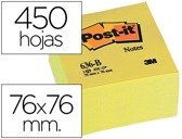 BLOCO DE NOTAS ADESIVAS POST-IT 76 X 76 X 45 MM