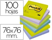 BLOCO DE NOTAS ADESIVAS POST-IT INTENSO 76 X 76 MM
