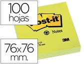 BLOCO DE NOTAS ADESIVAS POST-IT RECICLADO 76 X 76 MM