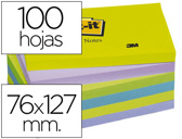 BLOCO DE NOTAS ADESIVAS POST-IT INTENSO 76 X 127 MM