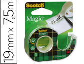 FITA ADESIVA SCOTCH MAGIC 7,5X19MM EM DESENROLADOR