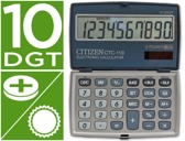 CALCULADORA CITIZEN DE BOLSO CTC-110 10 DIGITOS COR PRATA