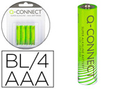 PILHA Q-CONNECT ALCALINA AAA - BLISTER COM 4 PILHAS
