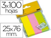 PACK MINI-NOTAS ADESIVAS POST-IT NEON 25 X 76 MM