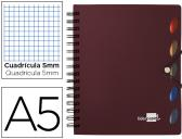 CADERNO ESPIRAL LIDERPAPEL EXECUTIVE 100 FLS A5 BORDEAUX QUAD