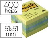 BLOCO DE NOTAS ADESIVAS POST-IT TIRA E POE POST-IT 51X51 MM MINICUBO