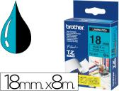 FITA BROTHER TZ-541 LAMINADA AZUL-PRETO 18MM X 8M