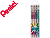 Roller pentel k116 gel grip pack c/4