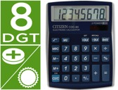 CALCULADORA CITIZEN DE SECRETARIA CDC-80 8 DIGITOS AZUL METALIZADA