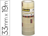 FITA ADESIVA SCOTCH ACORDEONPACK 8 550 19X33 MM