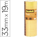 FITA ADESIVA SCOTCH ACORDEAO PACK 8 508 19X33 MM
