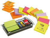 DISPENSADOR BLOCO DE NOTAS ADESIVAS POST-IT + DISPENSADOR DE INDEX