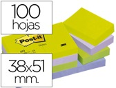 BLOCO DE NOTAS ADESIVAS POST-IT 38X51 MM ULTRA INTENSO SURTIDO PACK DE 12