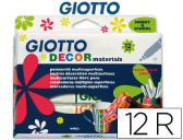 MARCADOR GIOTTO DECOR MATERIALS -CAIXA DE 12 CORES SORTIDAS