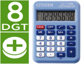CALCULADORA CITIZEN DE BOLSO LC-110 AZUL DE 8 DIGITOS