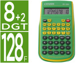 CALCULADORA CITIZEN CIENTIFICA SR-135F GRBP VERDE 128 FUNCOES 8+2 DIGITOS