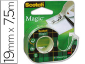 FITA ADESIVA SCOTCH MAGIC INVISIVEL CLIPS STRIP 7,5X19MM EM PORTA ROLO
