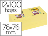 BLOCO DE NOTAS ADESIVAS POST-IT SUPER STICKY 76X76 MM CON 12 BLOCOS