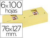 BLOCO DE NOTAS ADESIVAS POST-IT SUPER STICKY 76X127 MM COM 6 BLOCOSOS AMA